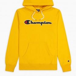 Mikina CHAMPION Rochester Script Hoodie yellow