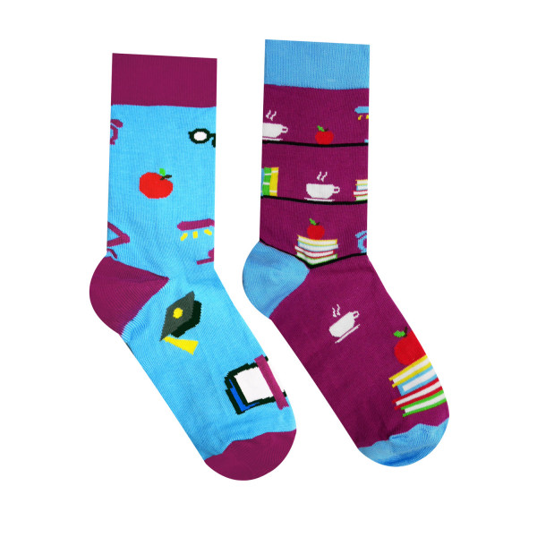 Ponožky HESTY Socks Knihovník