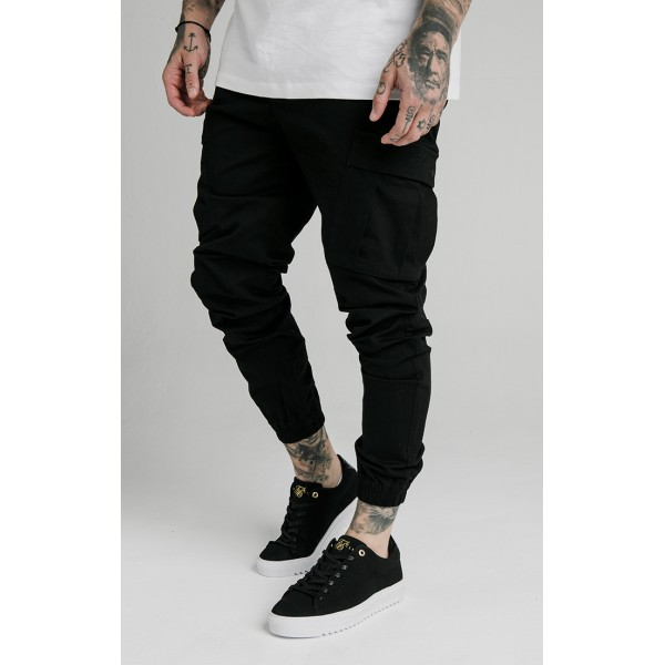 Kalhoty SIK SILK Cargo Pants black