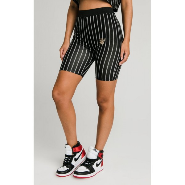Kraťasy SIK SILK Baseball Stripe Shorts black