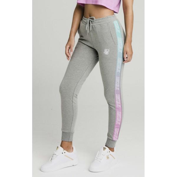 Tepláky SIK SILK Fade Runner Track pants grey