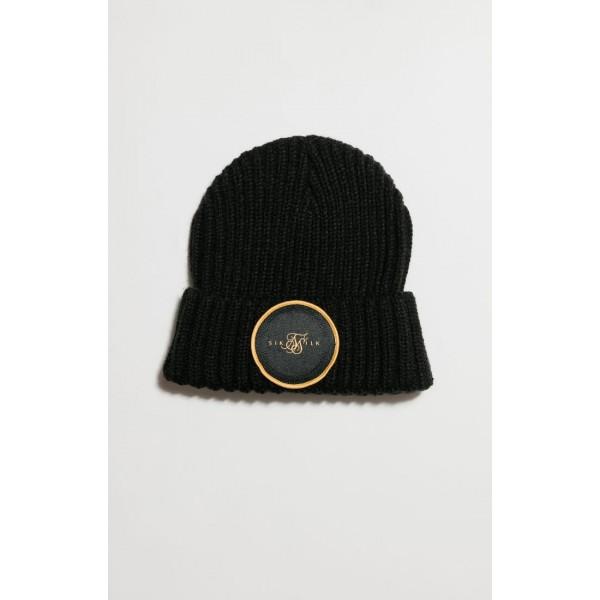 Zimní čepice SIKSILK Rib Cuff Beanie black/gold