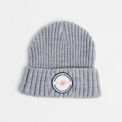 Zimní čepice SIKSILK Rib Cuff Beanie grey