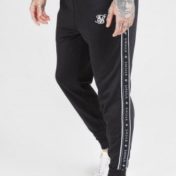 Tepláky SIK SILK Panel Tape pants black