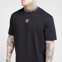 Tričko SIK SILK Tape Collar Essentials black