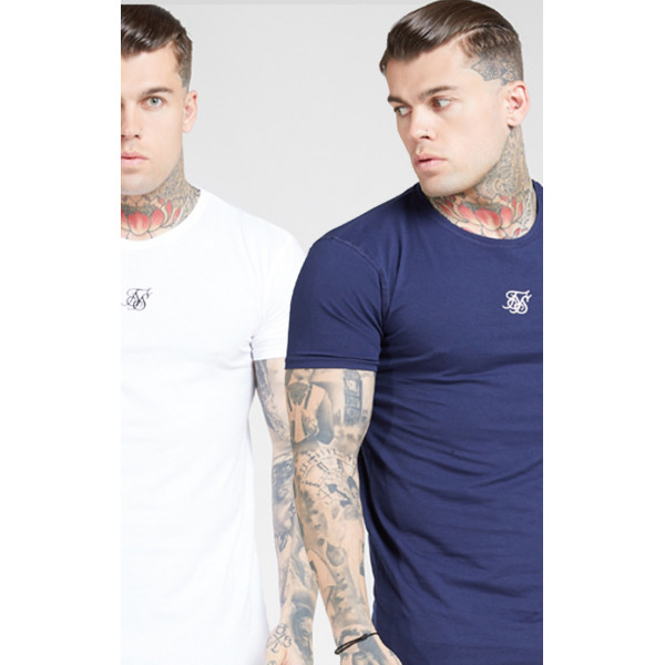 Tričko SIK SILK Lounge Tee 2-pack white/navy