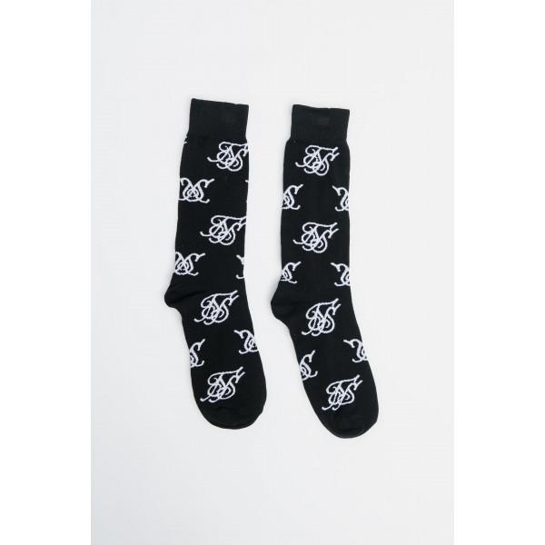 Ponožky SIK SILK Monogram black