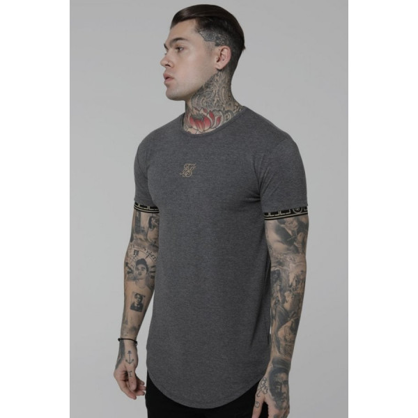 Tričko SIK SILK Cartel Gym Tee grey