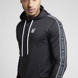 Mikina SIK SILK 1/4 Panel Tape Hoodie black