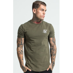 Tričko SIK SILK Short Sleeve Gym Tee khaki