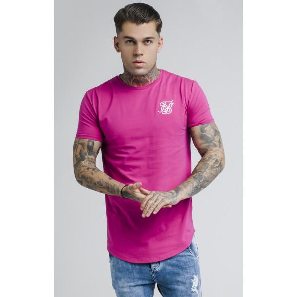 Tričko SIK SILK Short Sleeve Gym Tee sangria pink