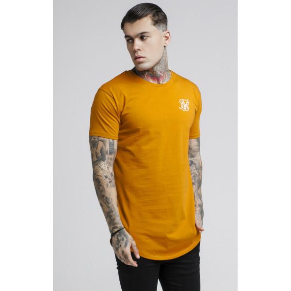 Tričko SIK SILK Short Sleeve Hem Tee orange