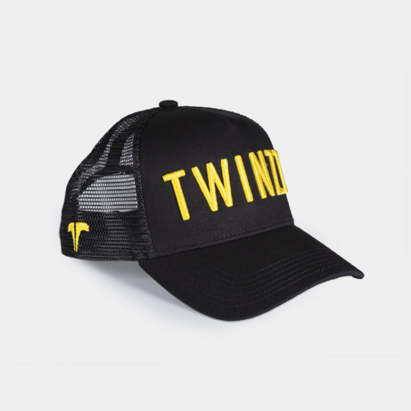 Kšiltovka TWINZZ 3D Mesh Trucker black/yellow