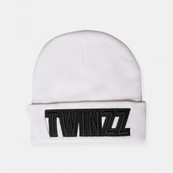 Čepice TWINZZ Uber Embro Knitted white/black