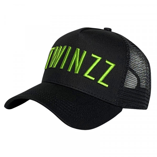 Kšiltovka TWINZZ Core black/lime