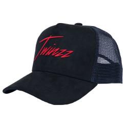 Kšiltovka TWINZZ Lightening Suede Trucker black/navy