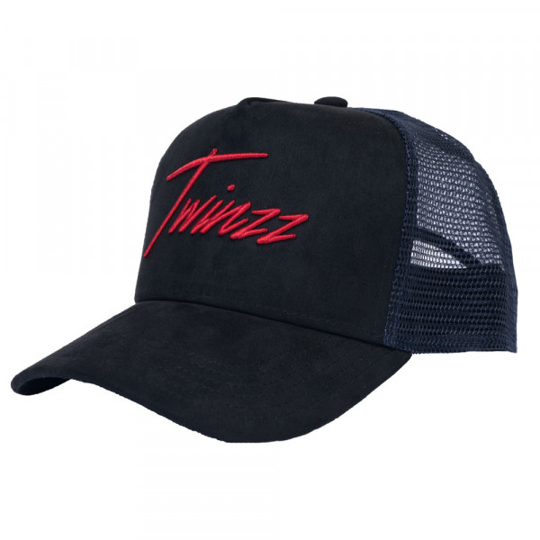 Kšiltovka TWINZZ Lightening Suede Trucker black/navy