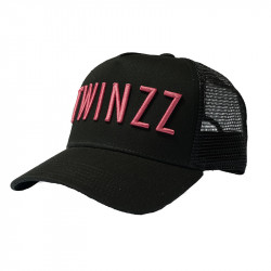 Kšiltovka TWINZZ 3D Mesh Trucker black/berry