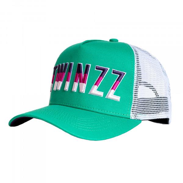 Kšiltovka TWINZZ Gradient Mesh Trucker green/white/purple