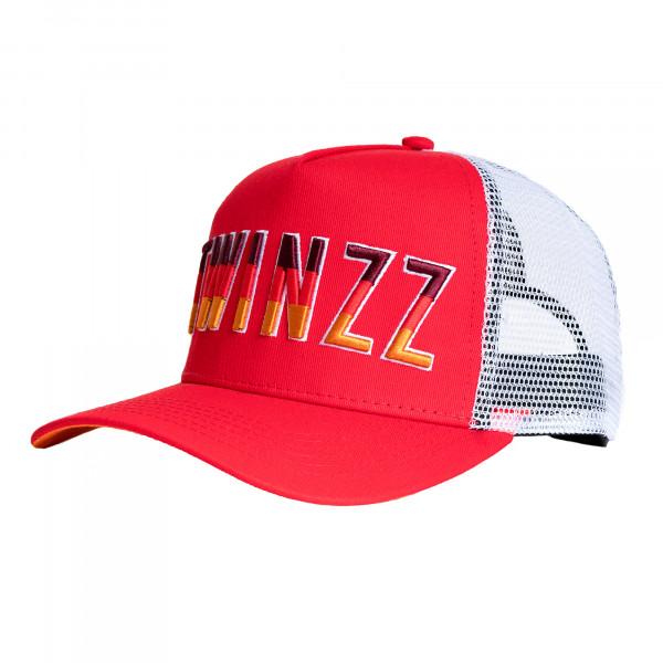 Kšiltovka TWINZZ Gradient Mesh Trucker red/white/orange