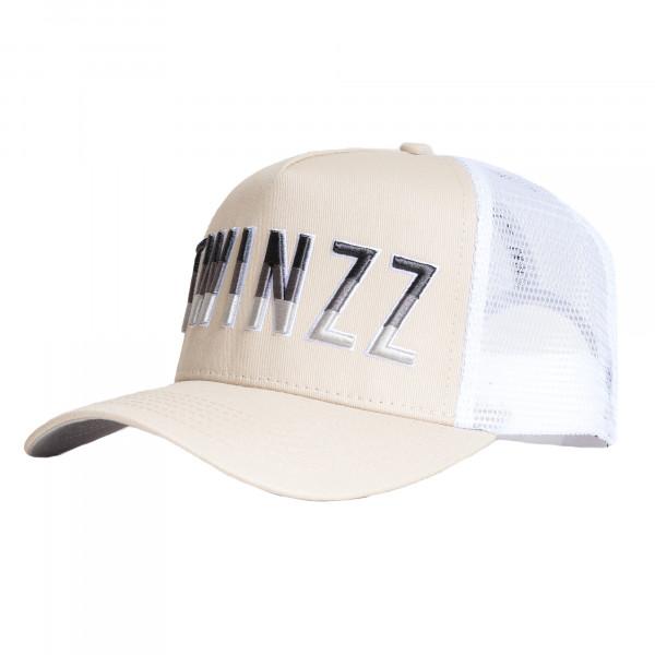 Kšiltovka TWINZZ Gradient Mesh Trucker stone/white/grey