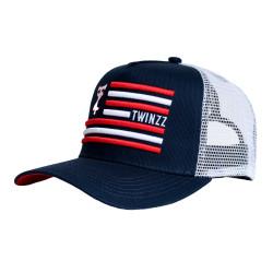 Kšiltovka TWINZZ Flag Trucker navy/white/red