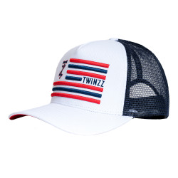 Kšiltovka TWINZZ Flag Trucker white/navy/red