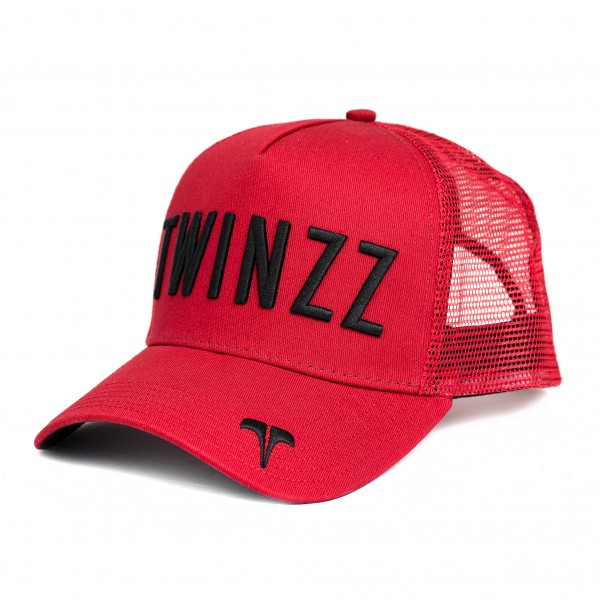 Kšiltovka TWINZZ Ghost trucker red