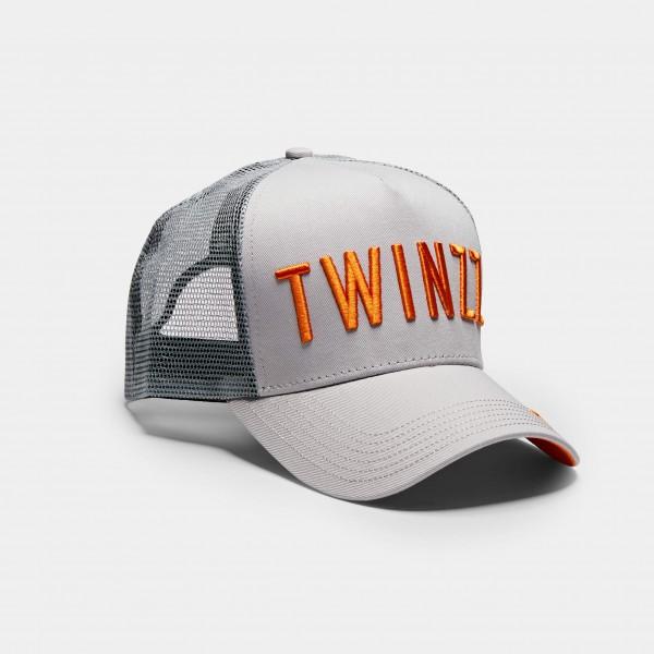Kšiltovka TWINZZ Tri-color trucker grey/orange