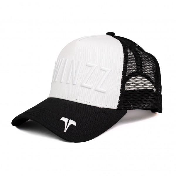Kšiltovka TWINZZ Tri-color trucker YingYang black/white