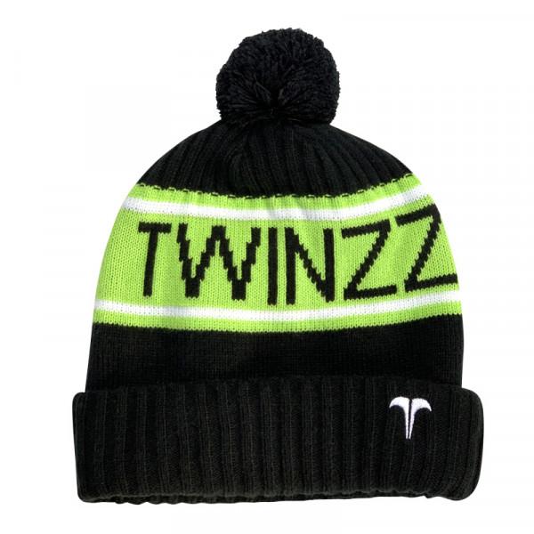 Zimní čepice TWINZZ Vancouver Jacquard black/lime/white