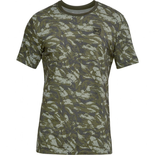Tričko  UNDER ARMOUR Aop Sportstyle Tee Green