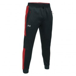 Tepláky UNDER ARMOUR ColdGear Reactor black/red